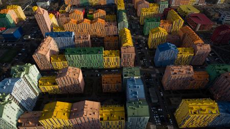 Beautiful colorful houses in Ukraine Reklamní fotografie