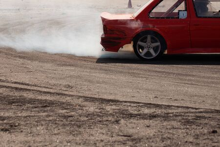 Sports beautiful cars drift on the racetrack