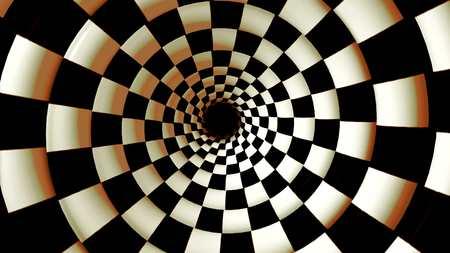 Endless rotating hypnotic spiral loopable video 4K