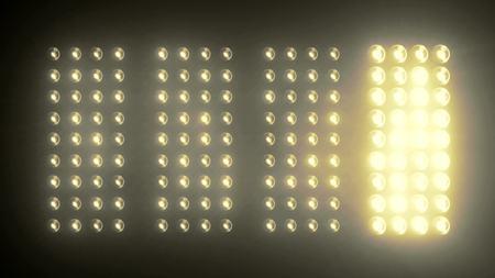 dancing club: Lights Flashing Spotlight Wall VJ Light Bulb led blinder blinking club concert stadium disco dj matrix beam dmx fashion floodlight halogen headlamp - Please see other style options in my portfolio Stock Photo