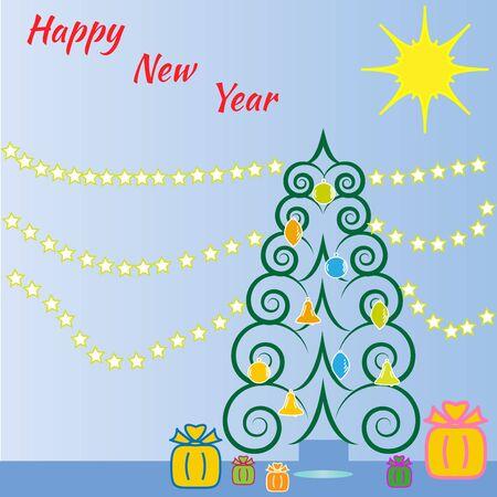 christmass: Christmass tree from spirals.