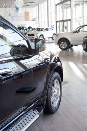 Russia, Izhevsk - February 17, 2021: Haval showroom. New modern cars in dealer showroom. Car manufacturer from China. Modern transportation.