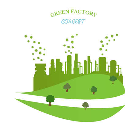Environmentally friendly production without harmful emissions into the environment. Concept of environment conservation.