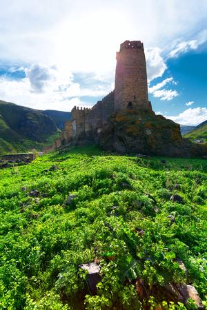 defense facilities: Medieval fortress of Khertvisi near the cave city of Vardzia, Georgia