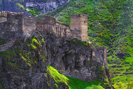 Medieval fortress of Khertvisi near the cave city of Vardzia, Georgia