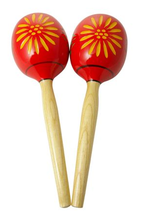 peruvian ethnicity: maracas on a isolated background