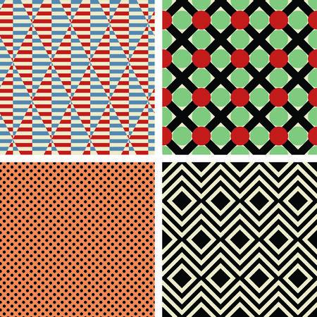 constructivism: four patterns in style of constructivism Illustration