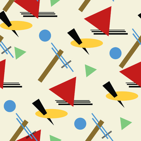 one pattern in style of constructivism Vector