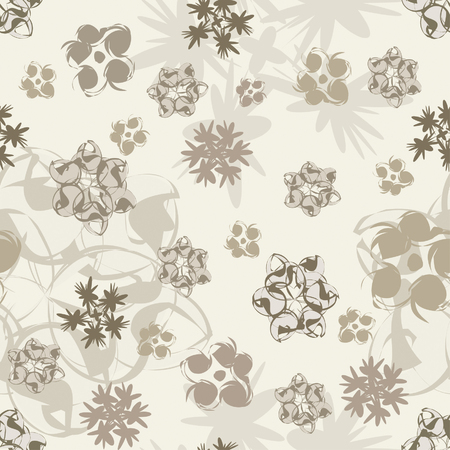curle: one pattern in floral style
