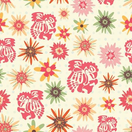 latin american: one pattern in precolumbine style Illustration