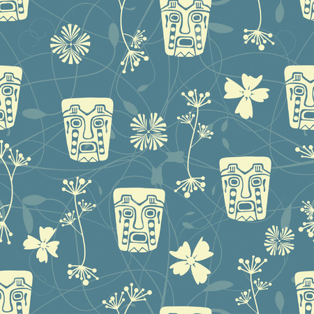 curle: one pattern in precolumbine style Illustration