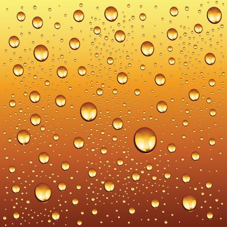 gocce d'acqua sul fondo della birra