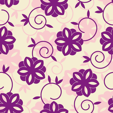 fun flowers in one pattern Vector