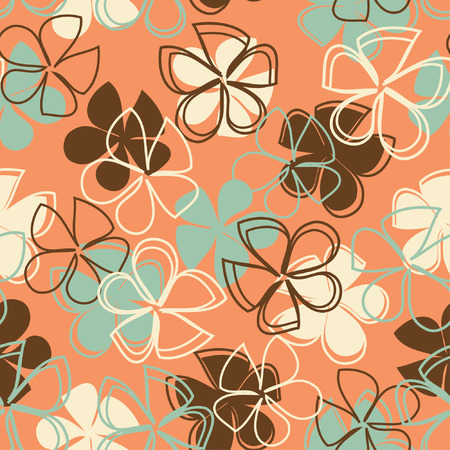 fun flowers in one pattern