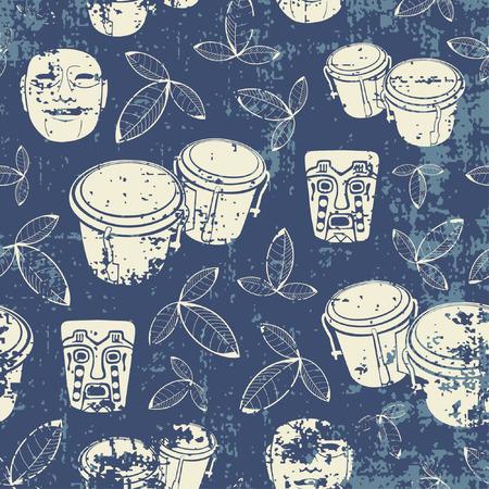 aztec pattern in grunge style Illustration