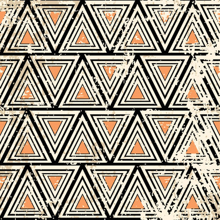constructivism pattern in grunge style Vector