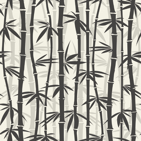 papier peint noir: motif de bambou