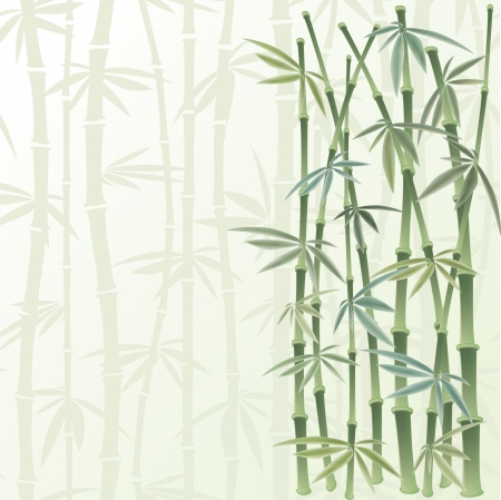 reeds: floral frame in  chinese style Illustration