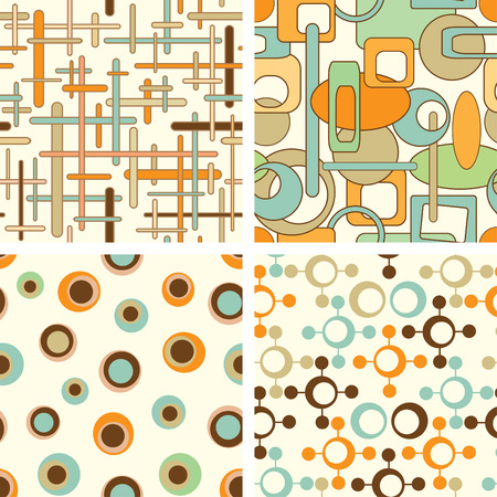four pattern in abstract style Vector