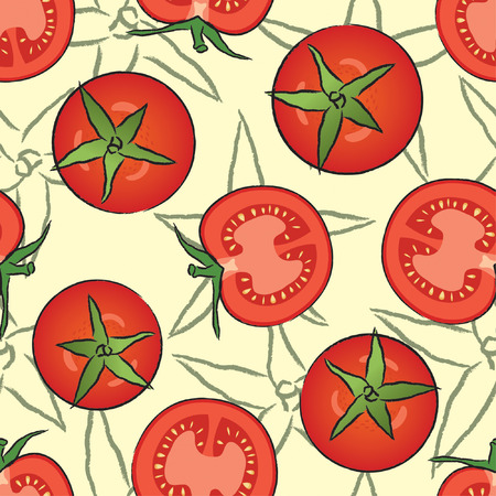 red tomato in one pattern Vector