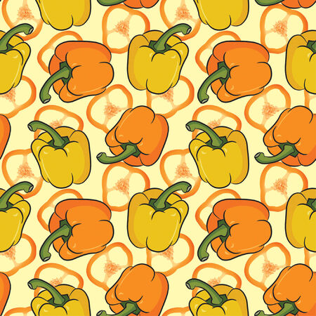 multi peppers in one pattern Vector