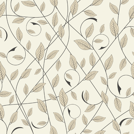 one pattern in floral style Vector