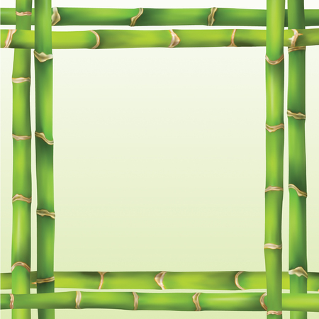 green frame in bamboo style Stock Vector - 4742489