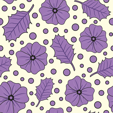 one pattern in floral style Stock Vector - 4832015
