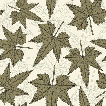 green leaves in one pattern Vector