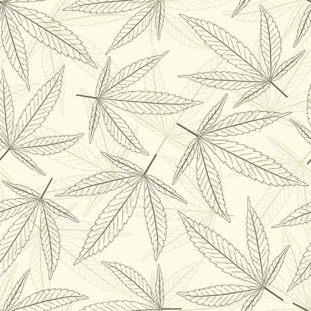 marihuana: marihuana bladeren in een patroon