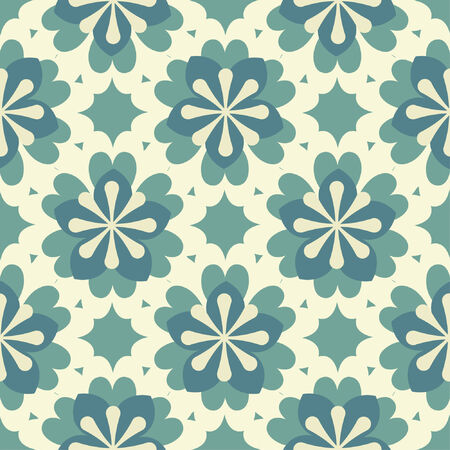 naive flowers in one pattern Vector