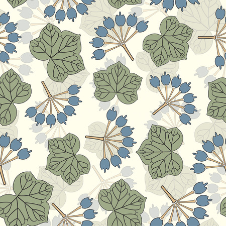 nouveau: floral pattern in modern style