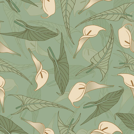 sepals: calla pattern in modern style