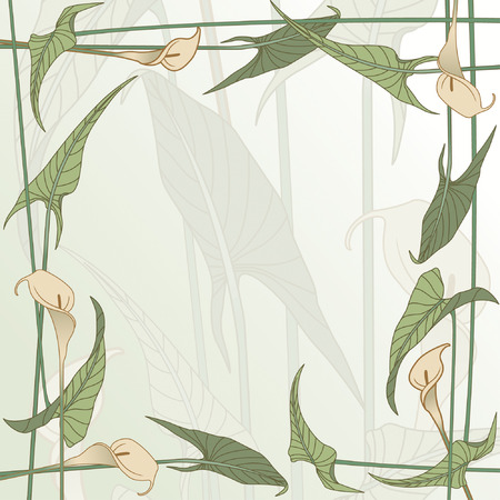 lush foliage: floral framework from calla lily