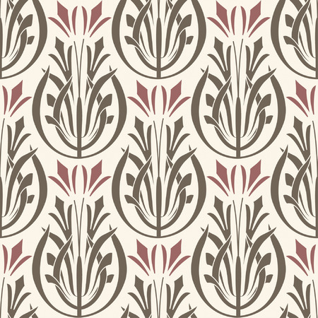 art noveau: wallpaper pattern in modern style