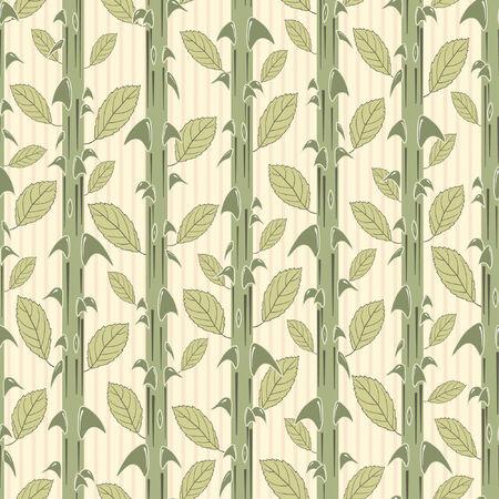 rose stems pattern in modern style Illustration