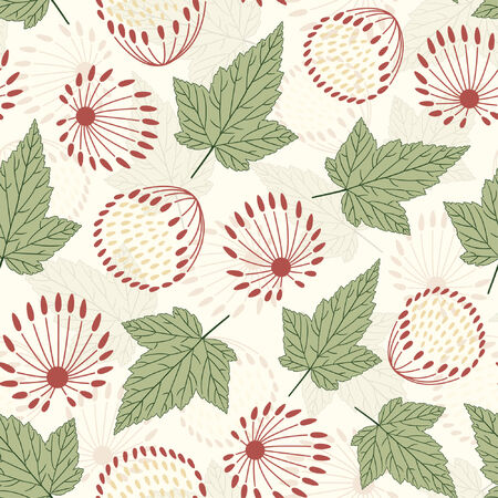 floral pattern in modern style Vector