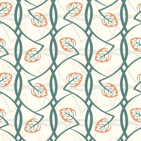 abstract floral pattern in modern style Vector