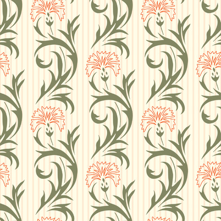 carnation: floral pattern in modern style