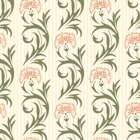 clavel: patrones florales en estilo moderno