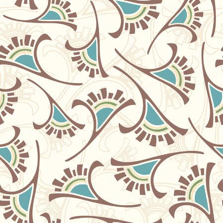 effortless: abstract flowers pattern in modern style