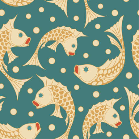 fish pattern in modern style Vector