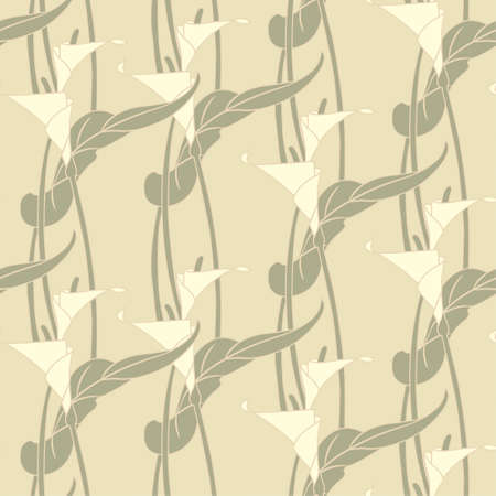 lilys pattern in modern style Vector