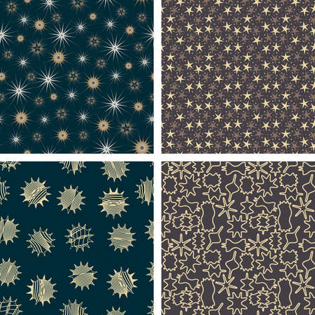 pattern set in abstract style Vector