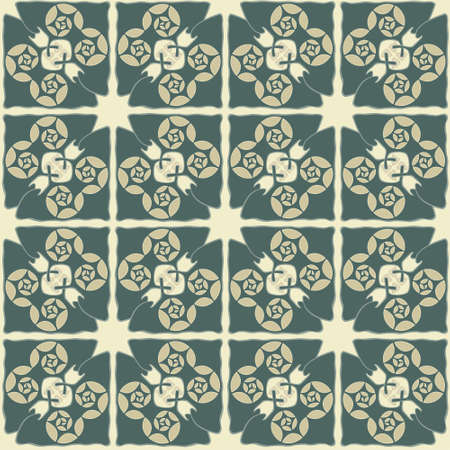 tile pattern in abstract style Vector