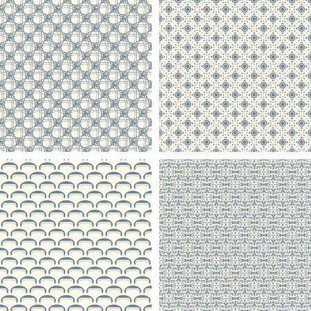 lattice pattern set in abstract style Stock Vector - 5172183