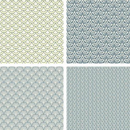 lattice pattern set in abstract style Vector
