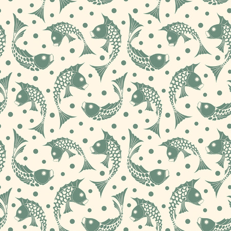 fish pattern in modern style Stock Vector - 5172228