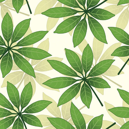 effortless: leaves pattern in floral style Illustration