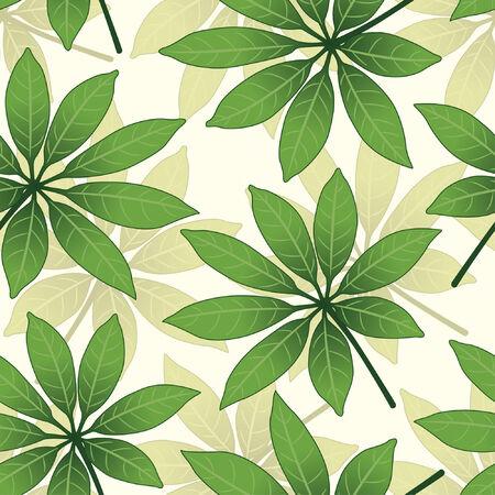 effortless: patr�n de hojas de estilo floral